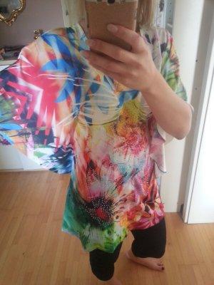 Vintage Lisa Tossa Tunika Neon hippie bunt Batik