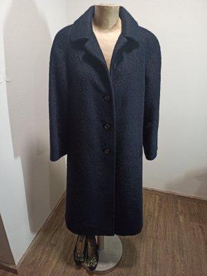 Vintage Llama Mantel dunkelblau 100% Naturhaar Lama Merin.owolle Gr. M L XL