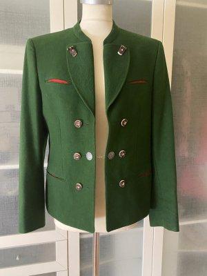 Lodenfrey Chaqueta folclórica verde-rojo Lana