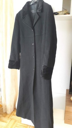 Made in Italy Manteau long noir cachemire