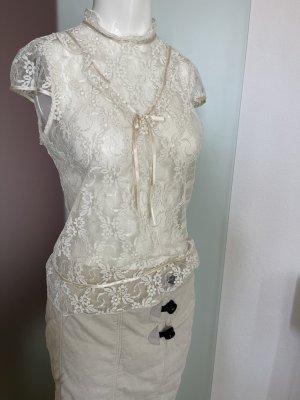 Vintage Look Bluse Gr 38 40 M Spitze Rüschen