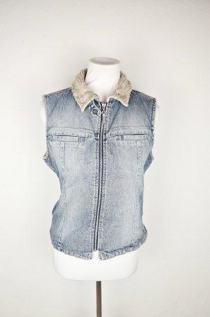 Esprit Denim Vest azure cotton