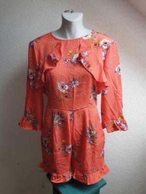 Vintage Look Jumpsuit mit Volants, Gr. S / 36