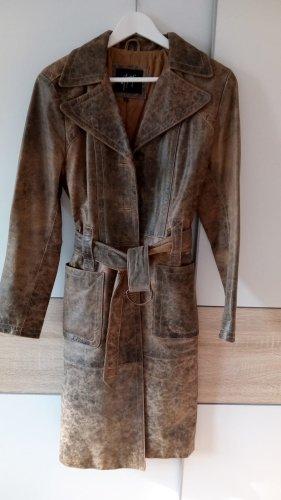 Gipsy Abrigo de cuero marrón claro-marrón