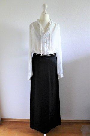 Vintage Look Maxi Kleid 20er 20s 30er 30s schwarz weiß Gr. 36 S