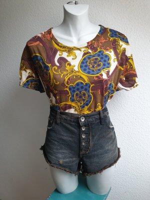 Vintage Look Oversize Shirt mit Retro Muster