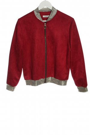 Vintage Love Bomber Jacket red-silver-colored casual look