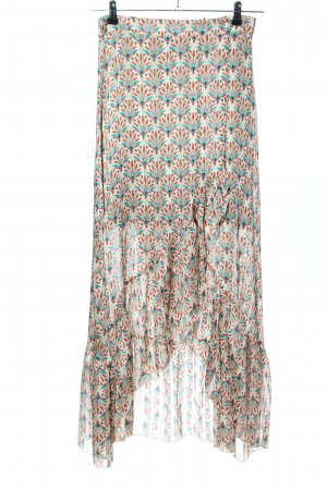Vintage Love Wraparound Skirt cream-turquoise allover print casual look