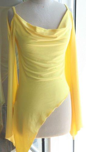 Vintage - Lush zipfliges Strand-Shirt Tunika Gr. 36/38 - Gelb - ausgefallen