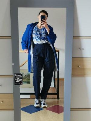 True Vintage Manteau oversized bleu-bleu foncé