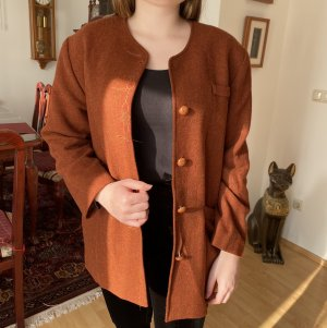 Blue Vintage Heavy Pea Coat cognac-coloured