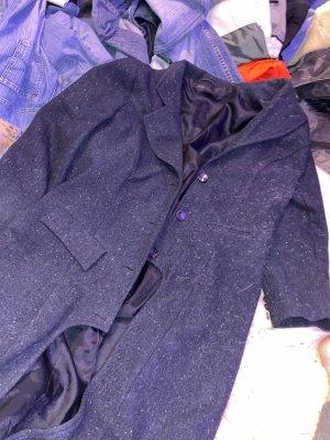 True Vintage Jas tot aan de grond donkerblauw