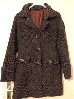 Wollen jas bruin Wol