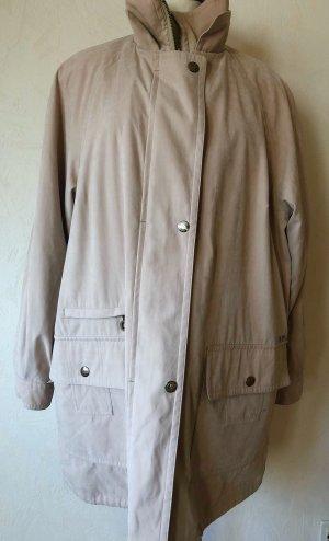 Vintage Mantel Jacke beige creme 44 Glamour Winterjacke