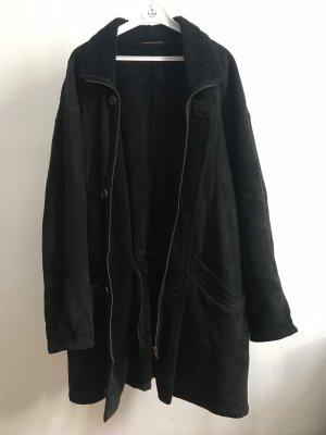 Daniel Hechter Manteau en cuir noir cuir