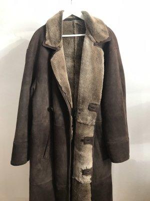 Vintage Manteau en cuir multicolore cuir