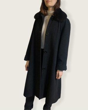 Vintage Mantel mit Fellkragen