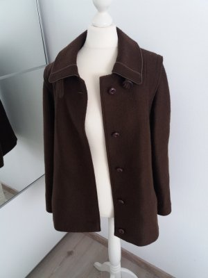 Vintage Mantel Schoko braun 36 38 S M