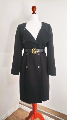 Vintage Abrigo ancho multicolor tejido mezclado