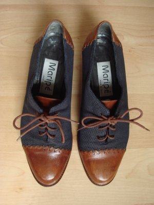 Maripé Wingtip Shoes cognac-coloured-dark grey leather