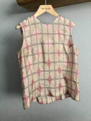 Marni Jedwabna bluzka nude-w kolorze różowego złota Jedwab