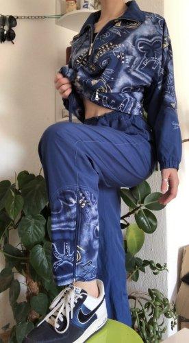 Vintage matching Tracksuit Set Blue