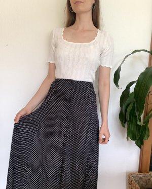 Vintage Maxi Skirt black-white