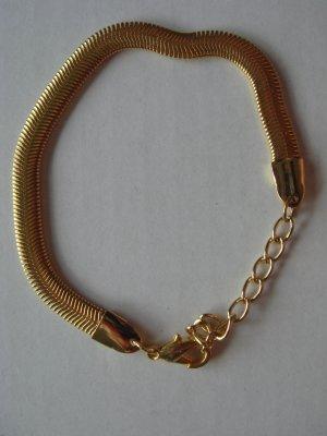 Vintage - Metall Armband Armkette Panzerkette Goldton - 90er Jahre - Modeschmuck ungetragen