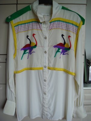 Vintage Silk Blouse multicolored silk