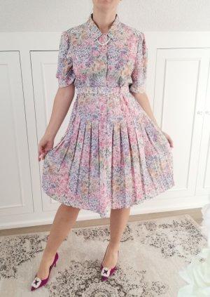 Vintage Midi-jurk veelkleurig