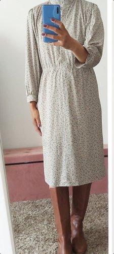 Vintage Midi Dress light grey-oatmeal