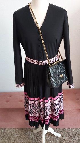 Vintage Midi Dress black-pink