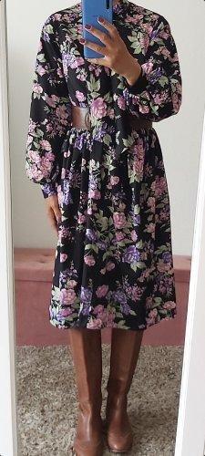 Vintage Midi Dress lilac-dark violet