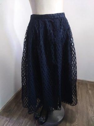 Vintage Spódnica z koła czarny