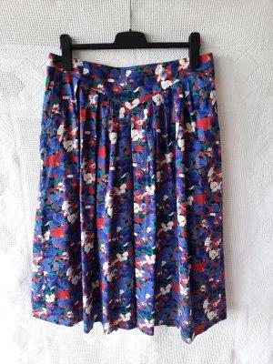 Vintage Spódnica midi niebiesko-fioletowy