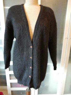 Knitted Coat black mohair