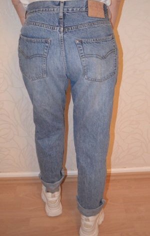 Vintage Hoge taille jeans donkerblauw-blauw