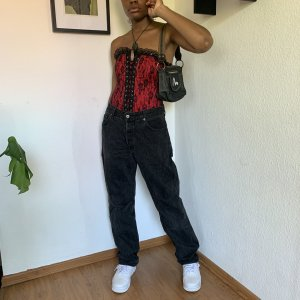 Mustang Pantalone largo nero-antracite Cotone