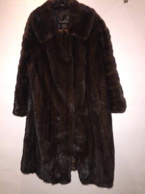 Jordan Manteau de fourrure brun foncé-brun fourrure