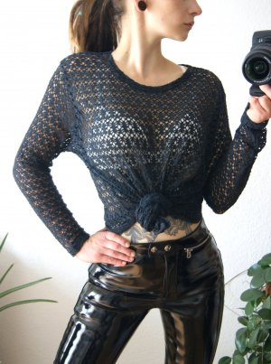 True Vintage Mesh Shirt dark blue-anthracite