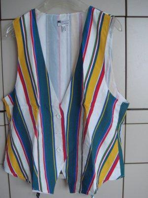 Vintage Chaleco de motorista multicolor Viscosa