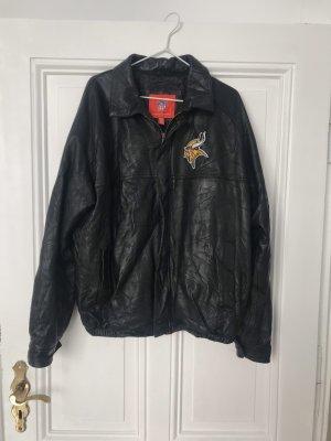 Vintage Veste en cuir noir cuir