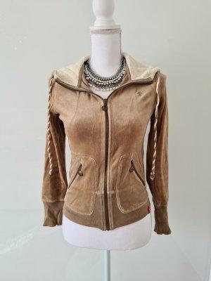 Vintage Nicki Sweatjacke Zip Sweater mit Kapuze Gr. XS