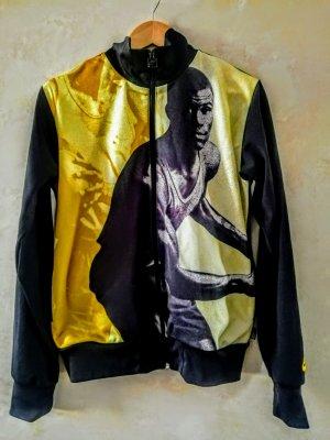 Nike Chaqueta deportiva negro-amarillo