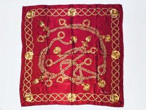 Nina ricci Écharpe en soie rouge brique-doré soie