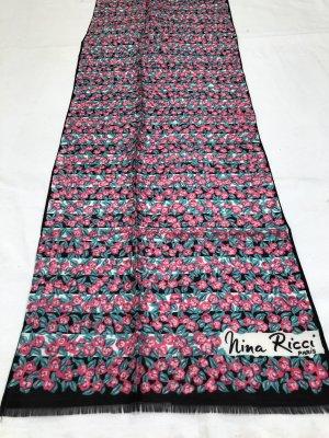 Vintage Nina Ricci Schal mit Blumenmuster aus Seide