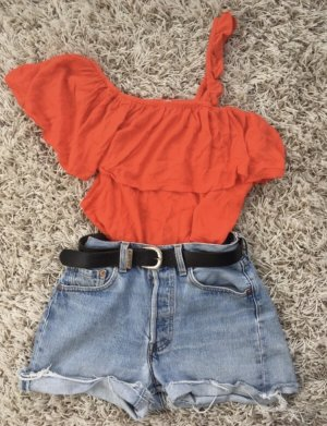 One Shoulder Top salmon