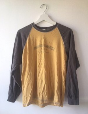 Vintage Oberteil gelb braun grau S 36 shirt