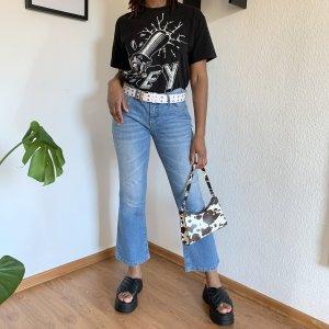 obey T-shirt nero-bianco Cotone