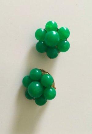 Vintage Clip d'oreille vert